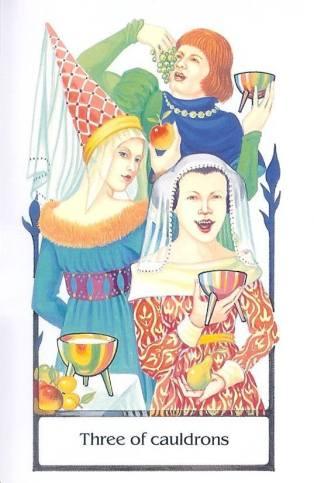 古徑塔羅小牌旅程之聖杯三