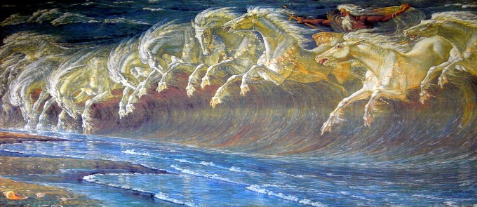 Horses of Neptune Walter Crane 1893 Neue Pinakothek, Munich