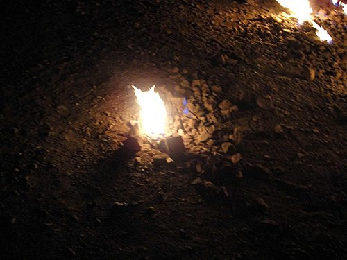 夜晚中的出火