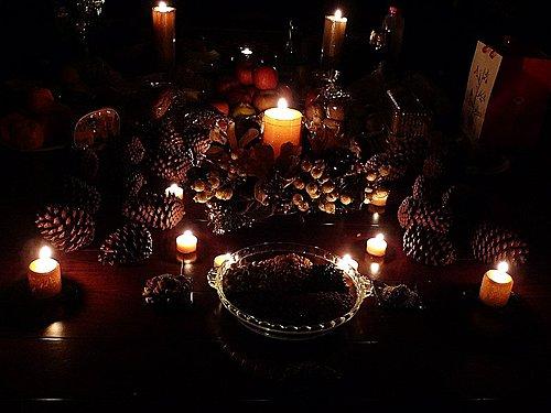 (進行月蝕冬至能量冥想,這一天也與黑暗女神或是月神有關)
