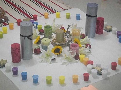 P4美麗的花與蠟燭