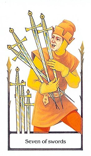古徑塔羅小牌旅程之寶劍七