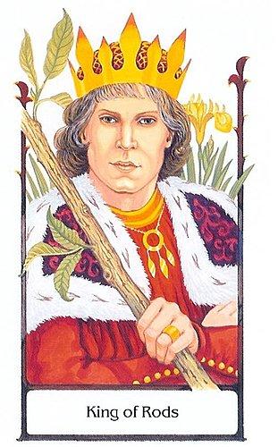 古徑塔羅小牌旅程之權杖國王