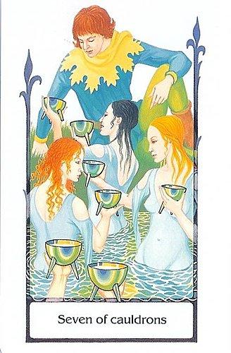 古徑塔羅小牌旅程之聖杯七