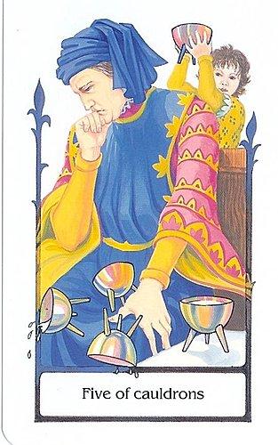 古徑塔羅小牌旅程之聖杯五