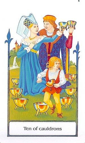 古徑塔羅小牌旅程之聖杯十