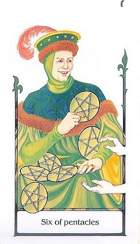 古徑塔羅小牌旅程之錢幣六
