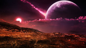 fantasy-alien-landscape-mystical-desert-environment-purple-sun-giant-moon-sky-38694349