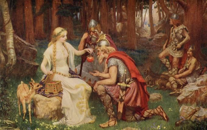 Iduna, Daughter of Svald, Art Painting by James Doyle Penrose