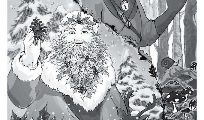 【魔法手帳誌】2017年12月‧凱爾特男神⊕冬青王與橡樹王 Holly King and OakKing